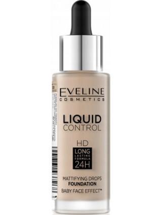 Eveline Podkład W Płynie HD Liquid Control 040 Warm Beige
