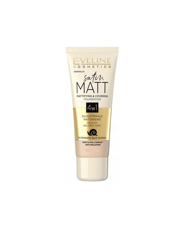 Eveline Podkład Matujący Satin Matt 4w1 102 Vanilla