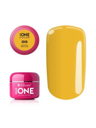 Silcare Żel Budujący Base One Color 03 Sunny Yellow