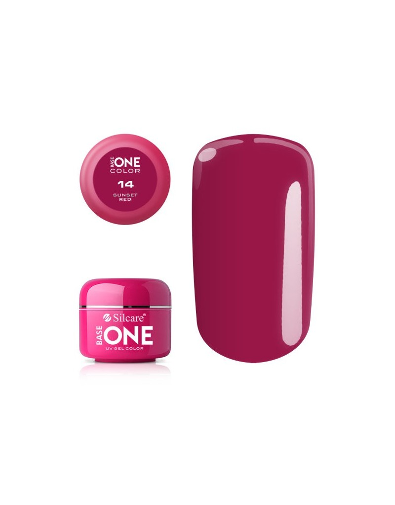 Silcare Base One Color 14 Sunset Red 5g - 1