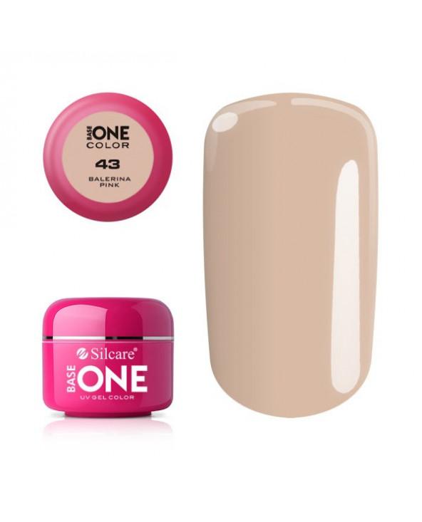 Silcare Żel Budujący Base One Color 43 Balerina Pink