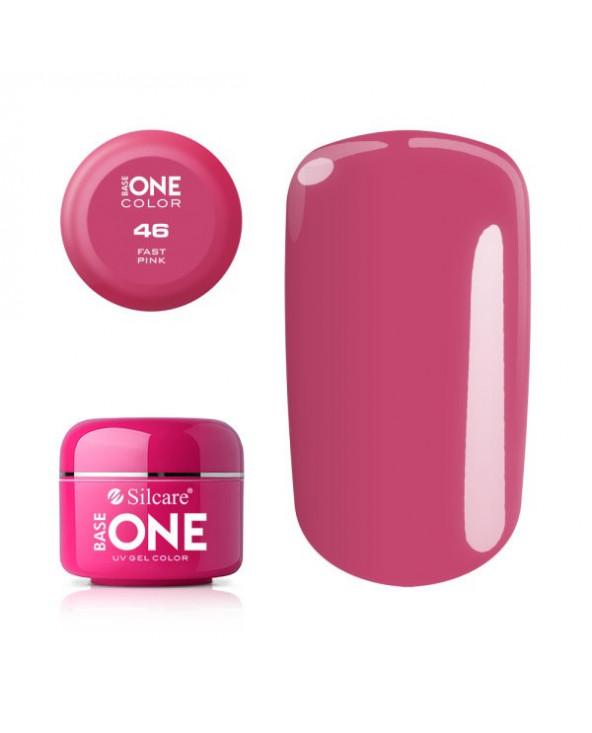 Silcare Żel Budujący Base One Color 46 Fast Pink
