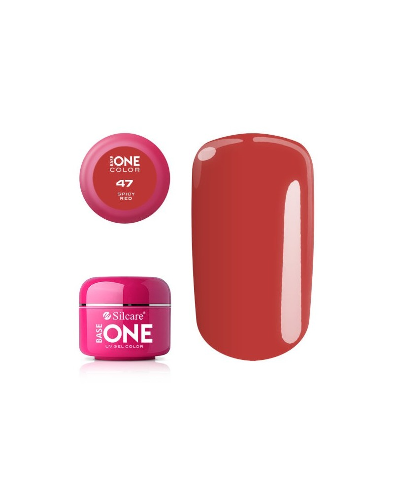Silcare Base One Color 47 Spicy Red5g - 1