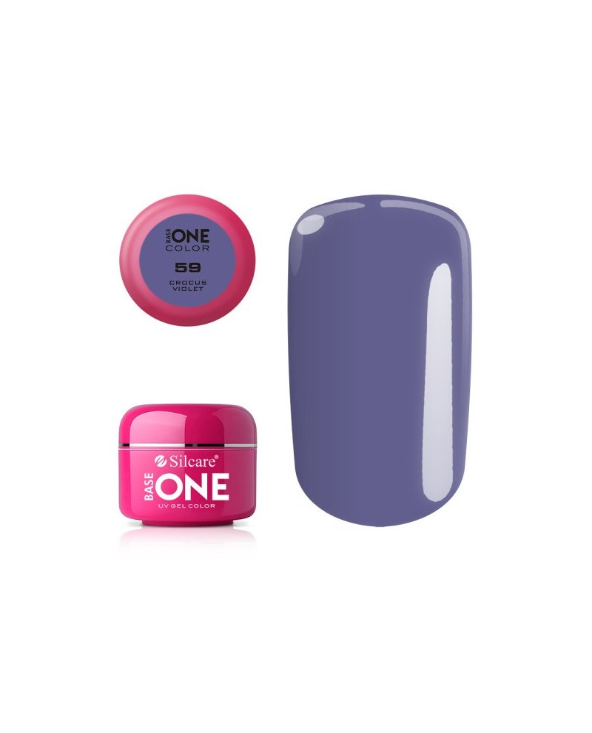 Silcare Żel Budujący Base One Color 59 Crocus Violet