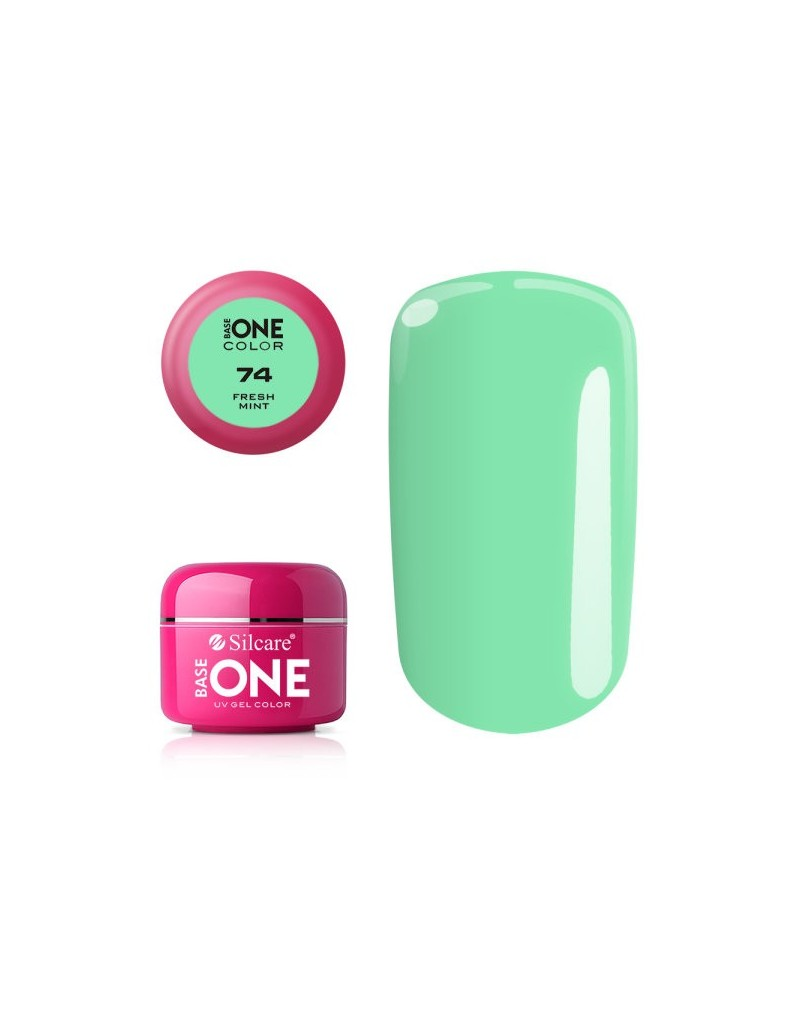 Silcare Base One Color 74 Fresh Mint 5g - 1