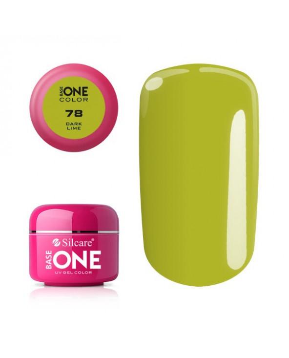 Silcare Żel Budujący Base One Color 78 Dark Lime