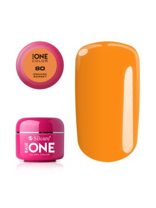 Silcare Żel Budujący Base One Color 80 Orange Sorbet