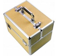 Kuferek Kosmetyczny Z Cyrkoniami Złoty